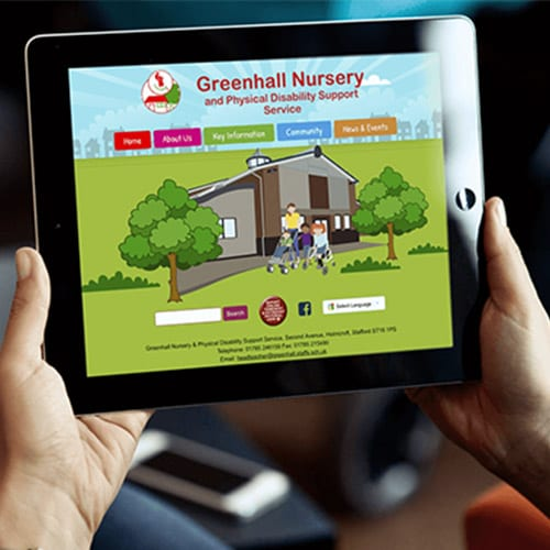 Greenhall Nursery School website design