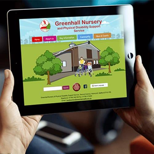 Greenhall Nursery School website design