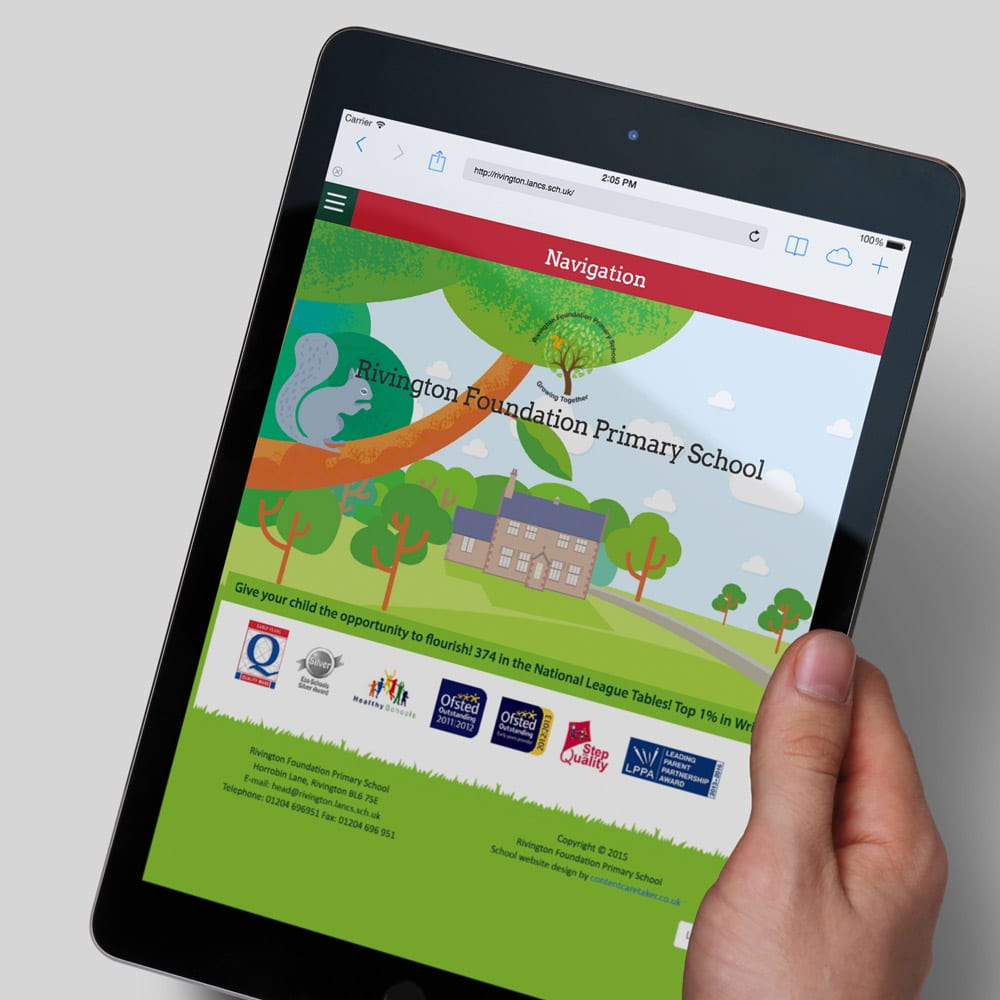 Rivington Foundation Primary School ipad design