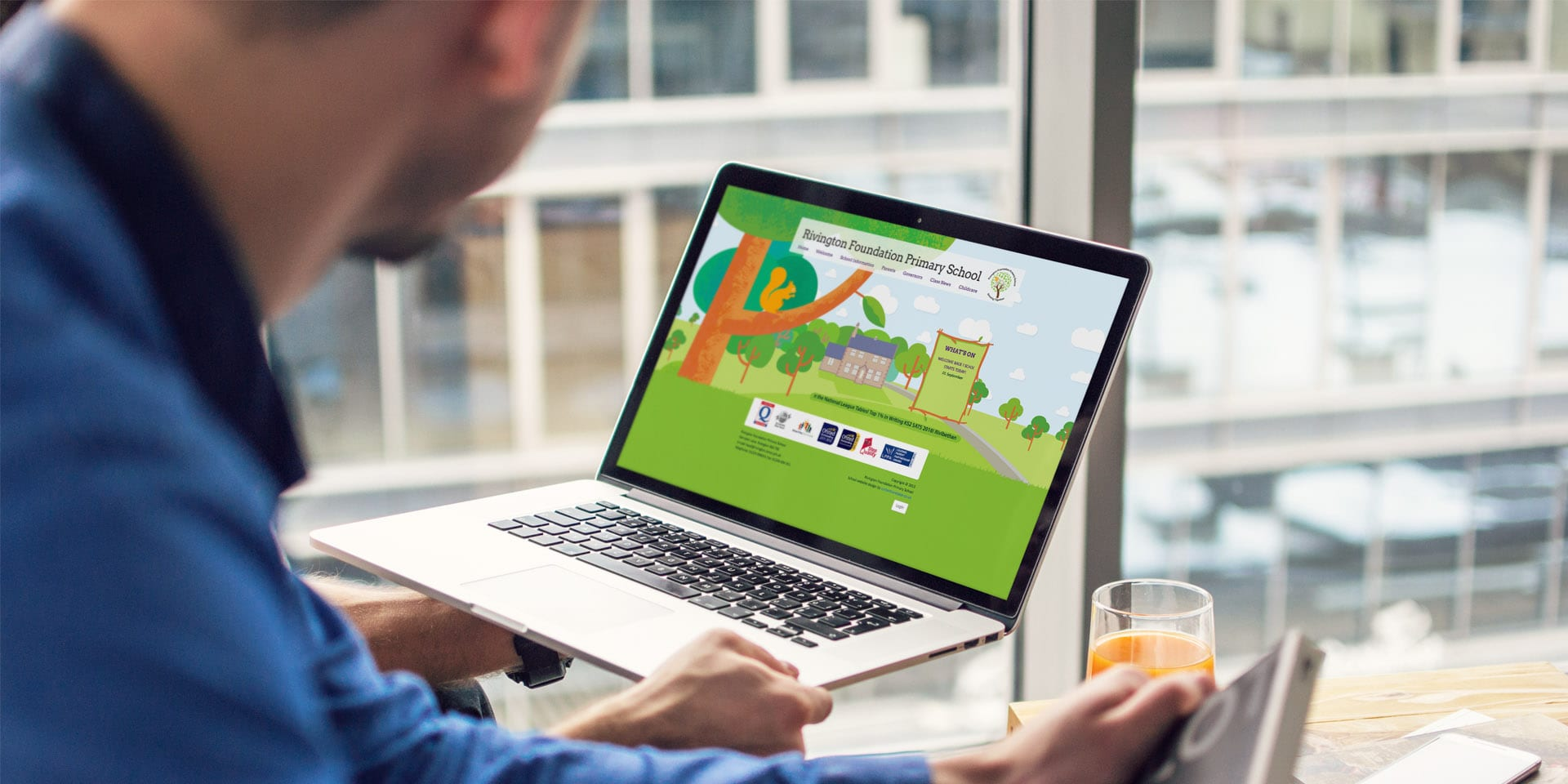 Rivington school website design