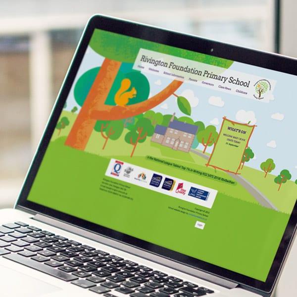 Rivington Foundation Primary School Website design
