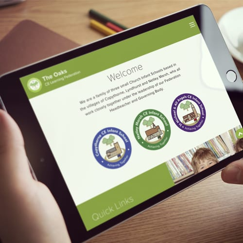 The Oaks CE Learning Federation - School website design Hampshire