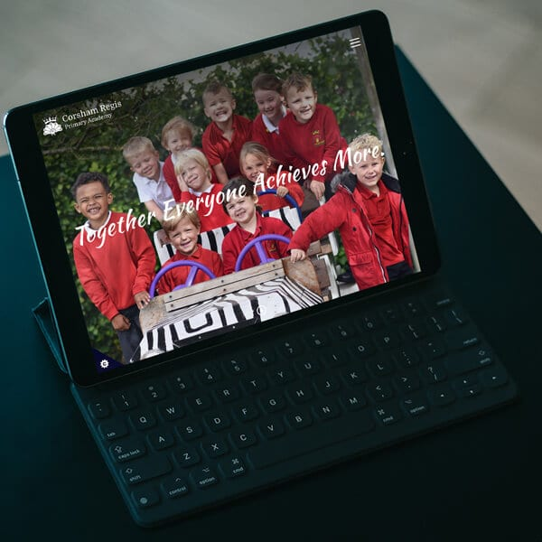 New school website design for Corsham Regis Primary School, Wiltshire Primary Academy