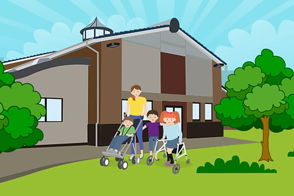 Greenhall School website illustration