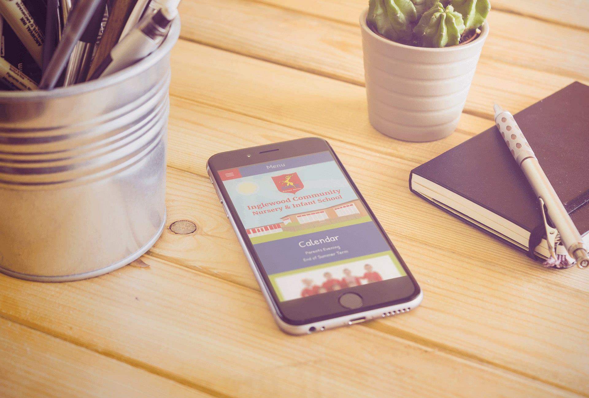 Inglewood Primary School mobile responsive website