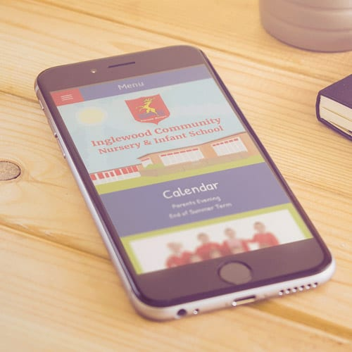 Inglewood school mobile website design