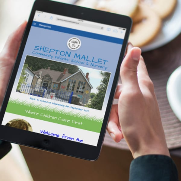 Shepton Mallet school website design