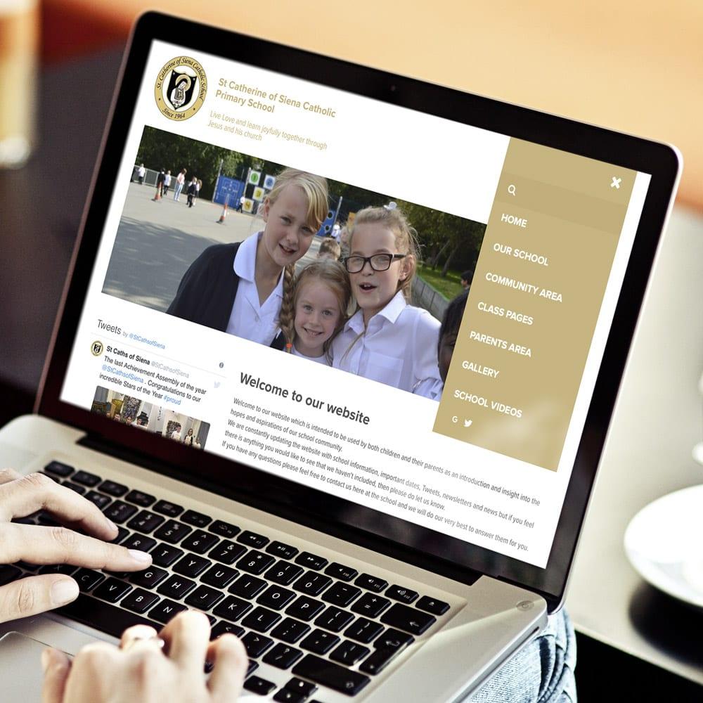 St Catherine of Siena laptop website design