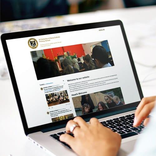 School website design for St Catherine of Siena Catholic Primary School