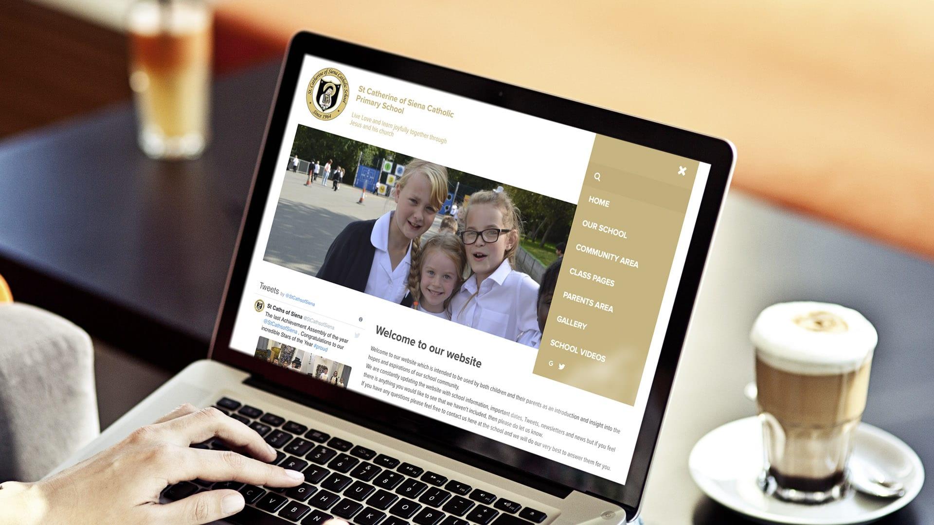 New school website design for St Catherine of Siena Catholic Primary School