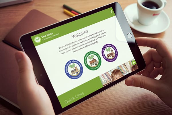 Website design for The Oaks CE Learning Federation