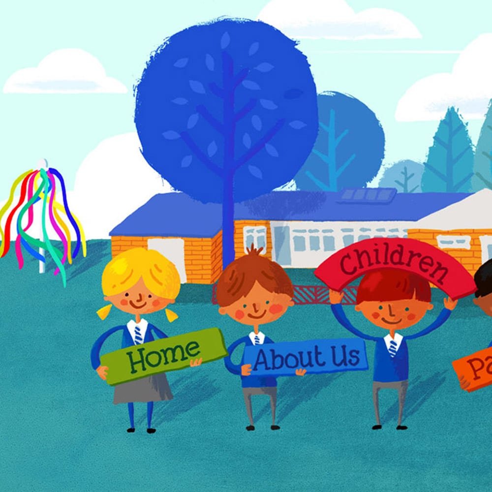 Illustration for Wroxton Primary School website