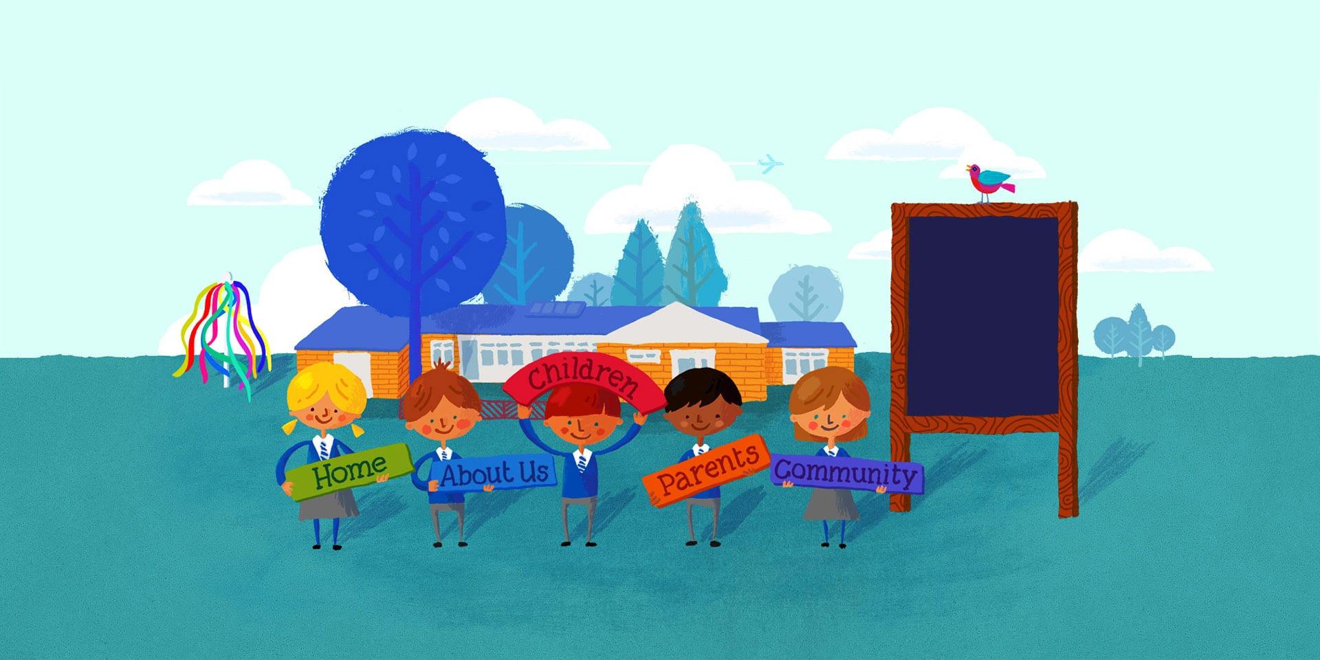 Wroxton School website design