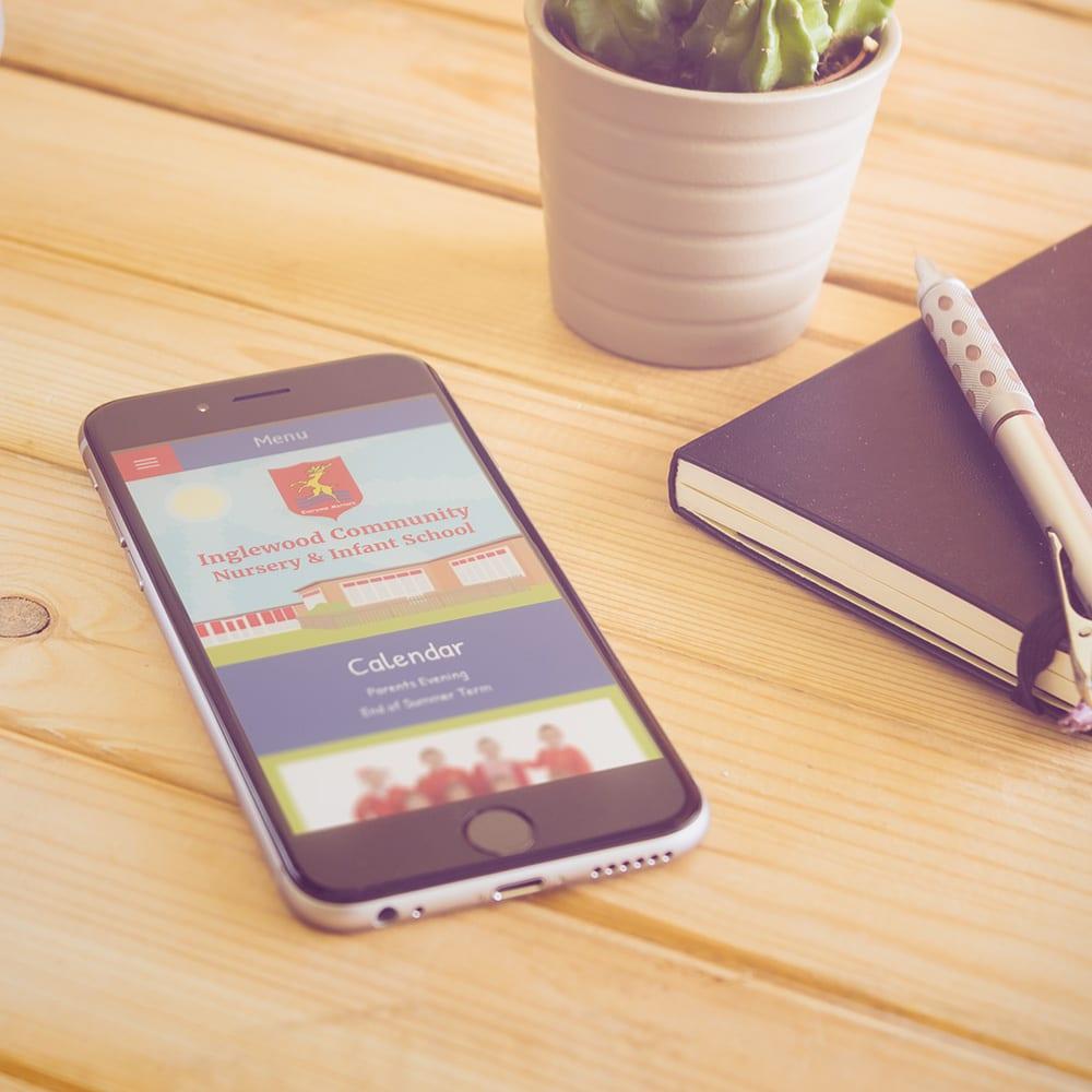 Inglewood School mobile website design