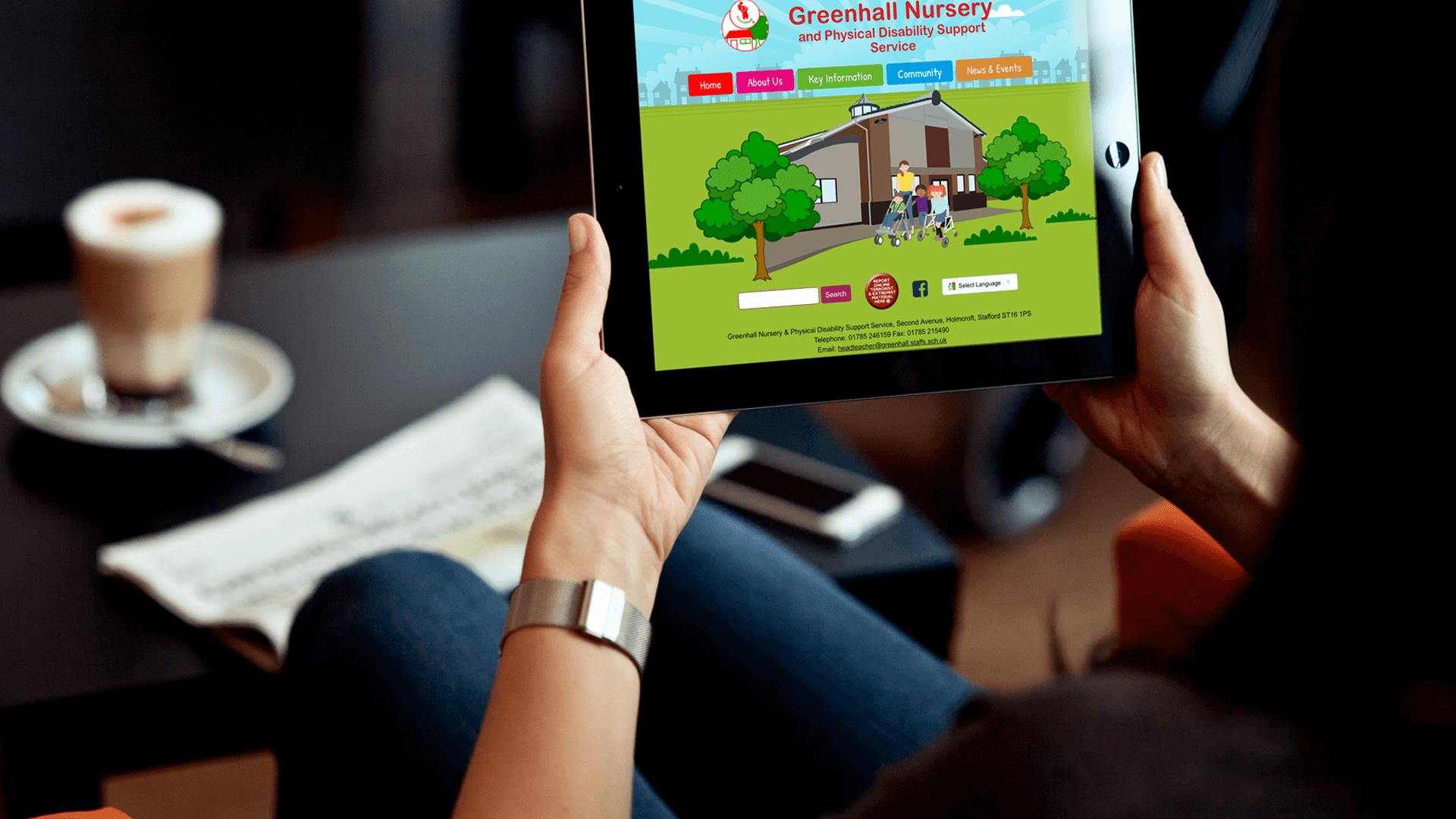 School website design by Content Caretaker