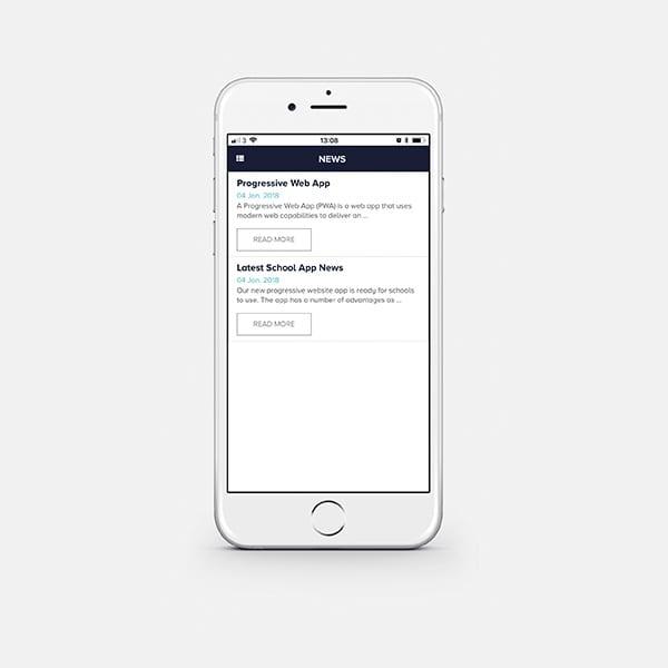 Parental web app by Content Caretaker - School website design