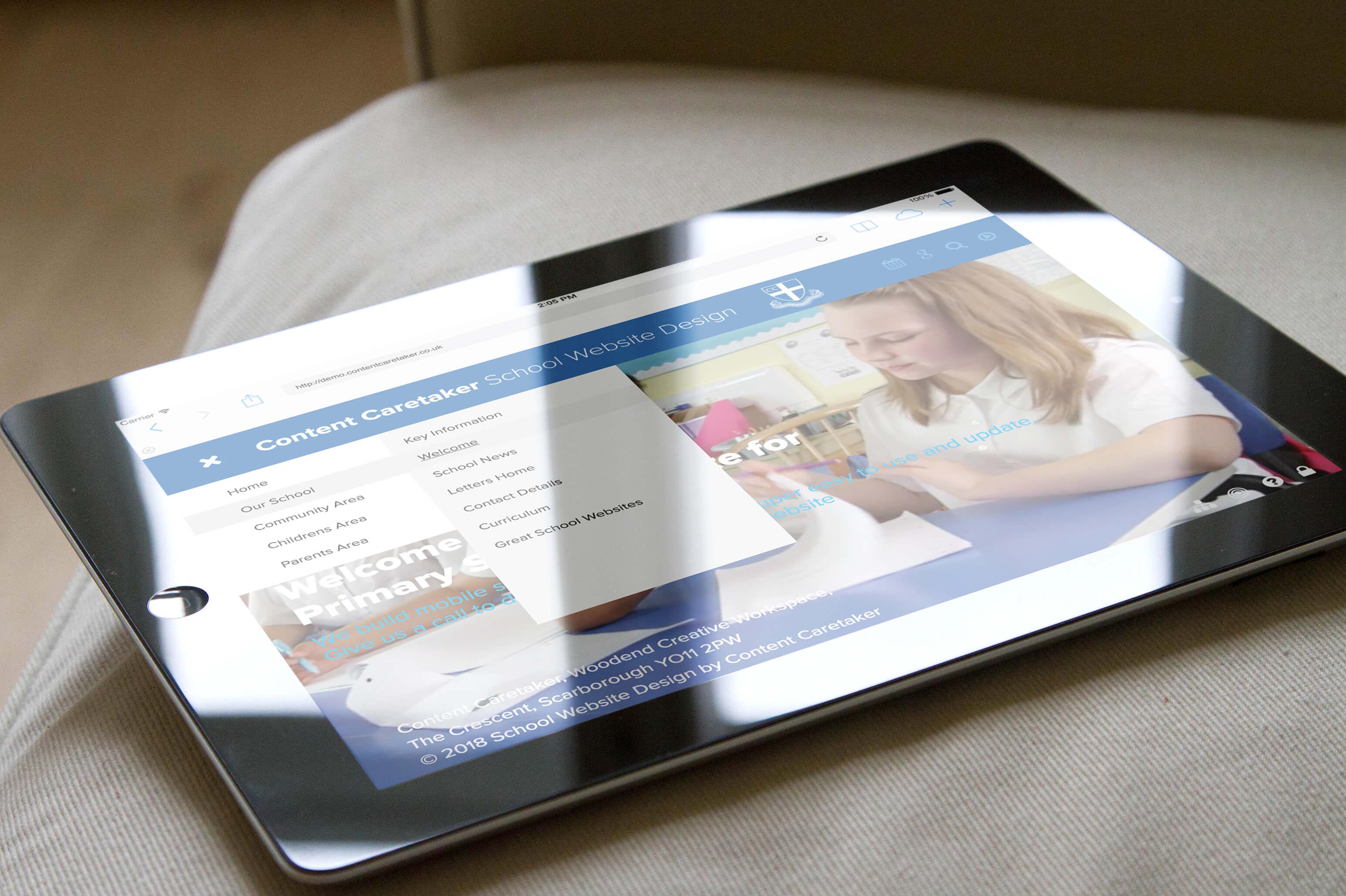 The £850 bespoke school website design for Primary School