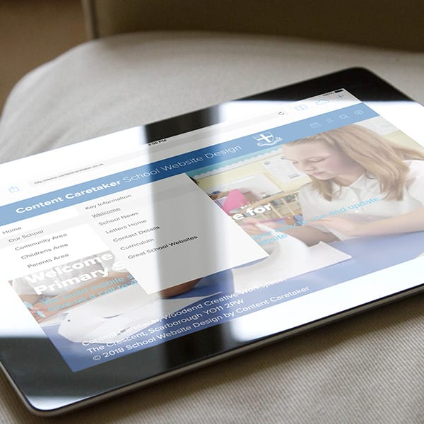 Our new test website show many of the features of our school website design service.