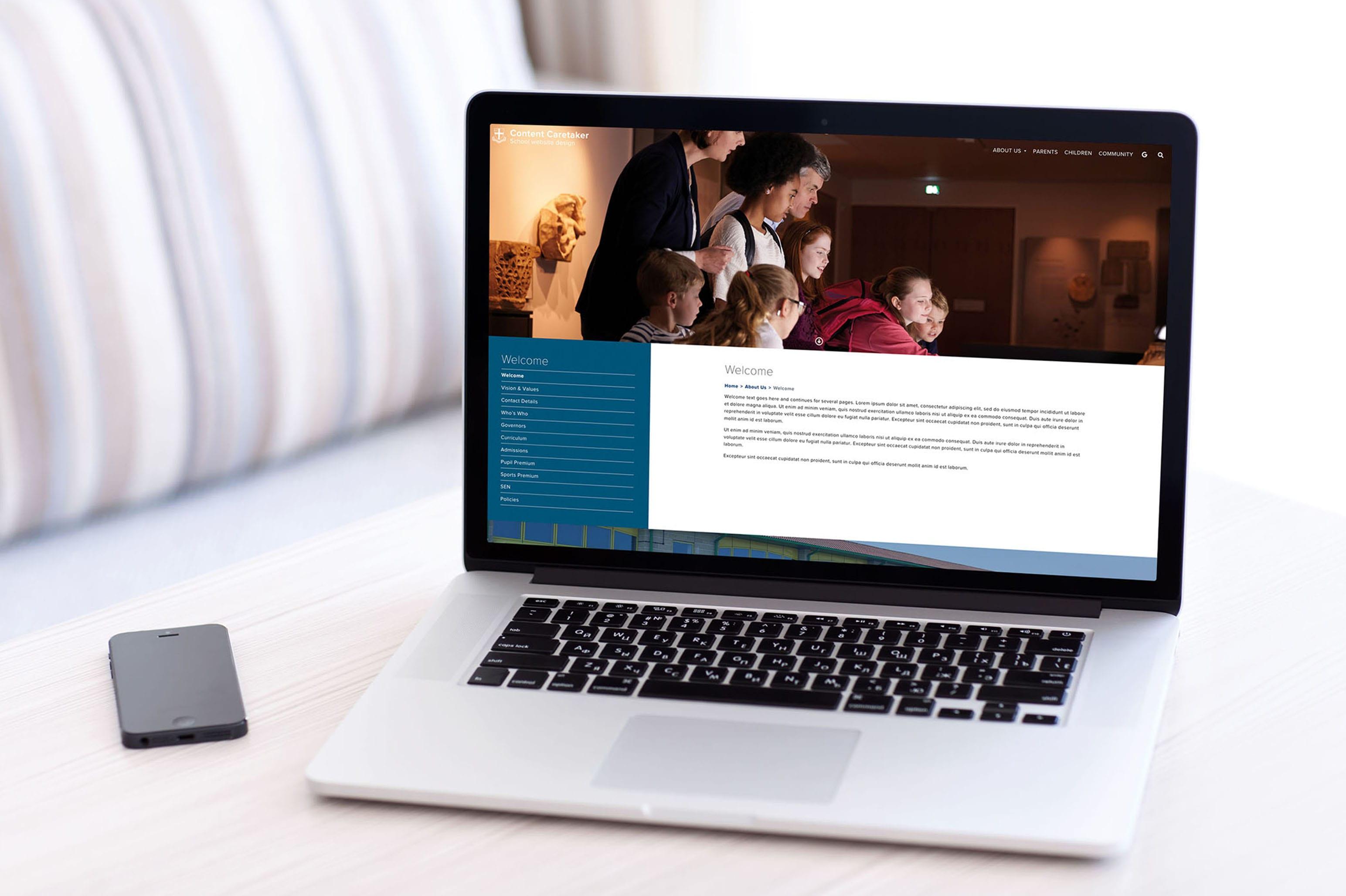 The £500 school website by contentcaretaker.co.uk