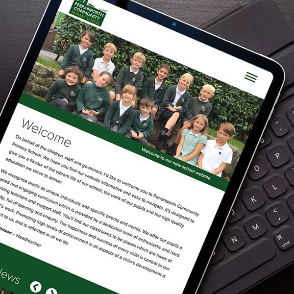 School website design Cornwall